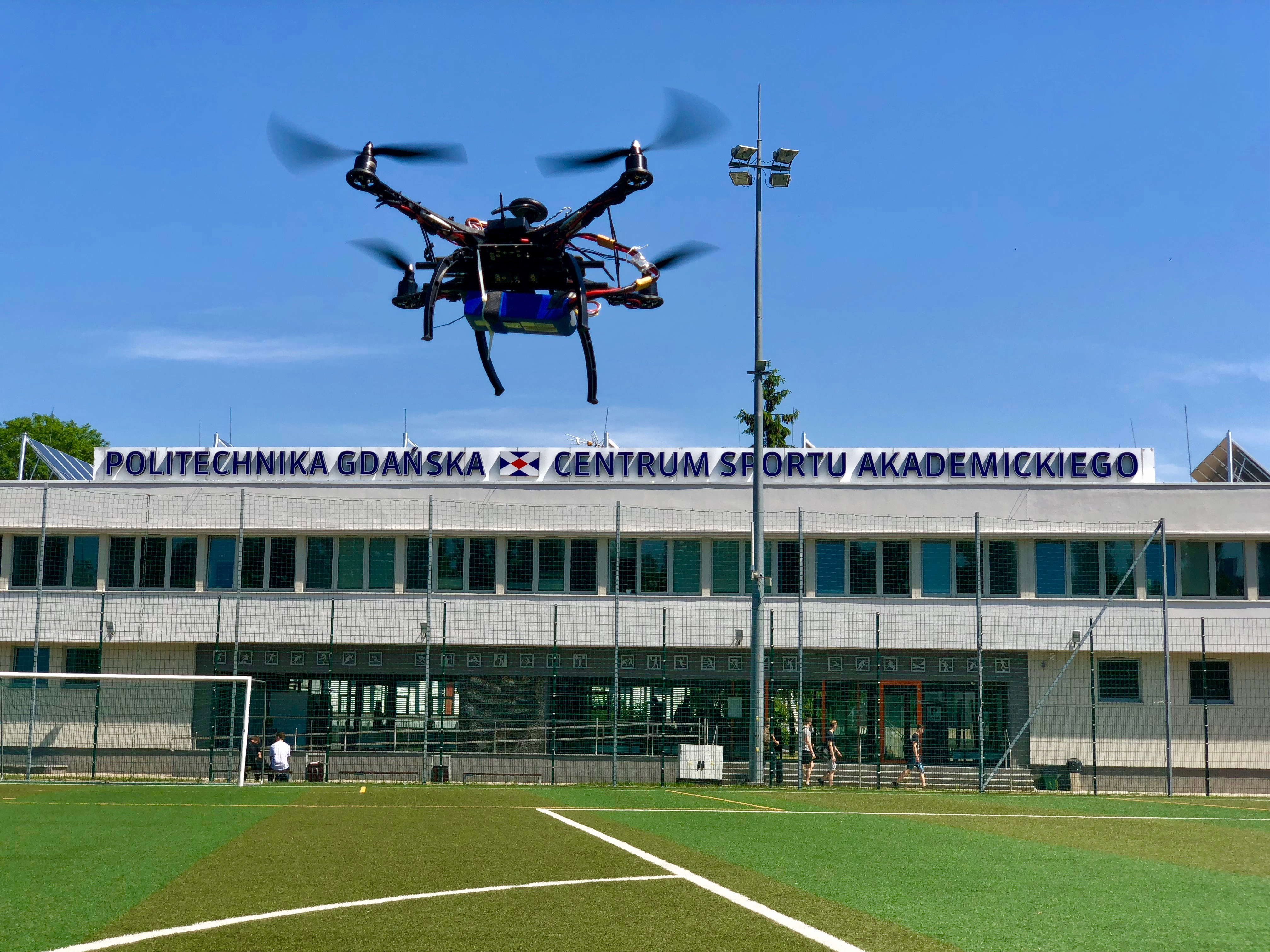 Drone over the pitch